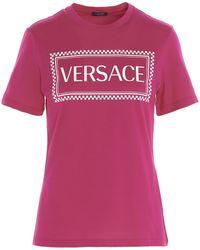 Versace 90s Vintage Logo T-shirt - Pink