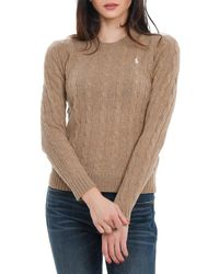 Polo Ralph Lauren Cable Knit Jumper - Brown