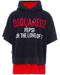 DSquared² Pepsi Short-sleeve Hoodie - Blue