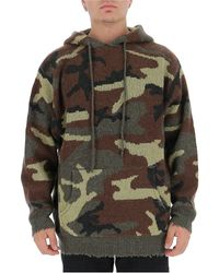R13 Camouflage Print Kitted Hoodie - Multicolour
