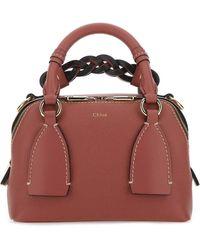 Chloé Daria Small Top Handle Bag - Brown