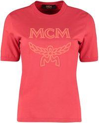 MCM Logo Printed T-shirt - Red