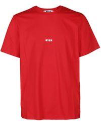 MSGM Micro Logo T-shirt - Red