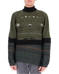 Marine Serre Regenerated Knitted Jumper - Multicolour