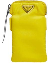 Prada Logo Phone Pouch - Yellow