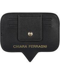 Chiara Ferragni Logo Print Card Holder - Black