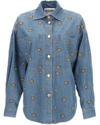 Moschino Teddy Bear Denim Shirt - Blue