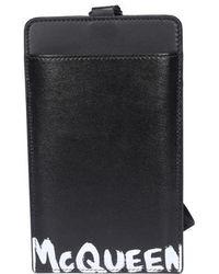 Alexander McQueen Logo Printed Phone Case - Black