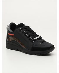 DSquared² Logo Panelled Trainers - Black