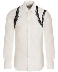 Alexander McQueen Abstract Print Shirt - White