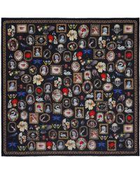 Alexander McQueen Cameo And Curiosities Wool Scarf - Multicolour