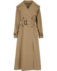 Valentino Belted Trench Coat - Natural