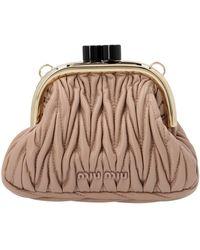 Miu Miu Belle Matelassé Mini Clutch Bag - Pink