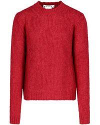 Marni Crewneck Knit Sweater - Red