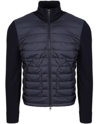 Moncler Padded Knit Jacket - Blue
