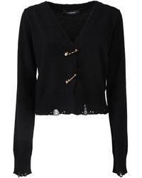 Versace Safety Pin Cardigan - Black