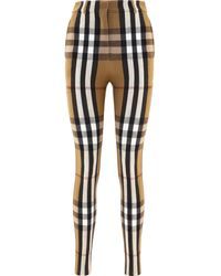 """Burberry """"house Check"""" Stretch Trousers - Multicolour"""