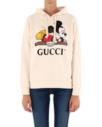 Gucci X Disney Mickey Mouse Web Hoodie - White