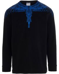 Marcelo Burlon Marcelo Burton County Of Milan Wings Long Sleeve T-shirt - Black