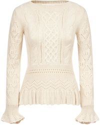 See By Chloé Cable Knit Sweater - Natural