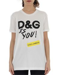 Dolce & Gabbana Logo Printed T-shirt - Multicolor