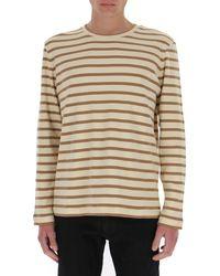 Jil Sander Striped T-shirt - Natural