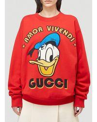 Gucci X Disney Donald Duck Sweatshirt - Red
