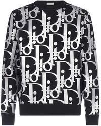 Dior Oversized Reflective Oblique Jumper - Black