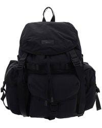 Juun.J Logo Patch Backpack - Black
