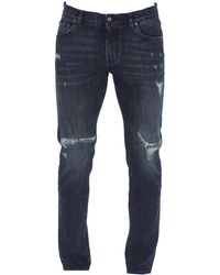 Dolce & Gabbana Distressed Denim Jeans - Blue