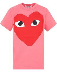 COMME DES GARÇONS PLAY Heart Print T-shirt - Pink