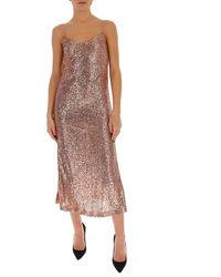 L'Autre Chose Sequinned Slip Dress - Pink