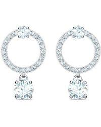 Swarovski Attract Circle Pierced Earrings - Metallic