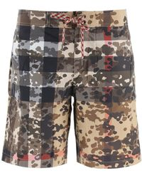 Burberry Camouflage Check Swim Shorts - Multicolour