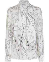Lanvin Tie-detailed Embellished Blouse - Multicolour