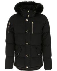 Moose Knuckles Cotton Blend Down Jacket - Black