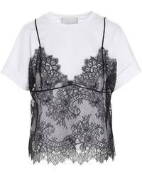 Philosophy Di Lorenzo Serafini Emanuelle Lace T-shirt - Multicolour
