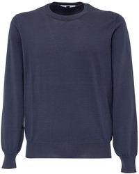 Brunello Cucinelli Crewneck Knitted Pullover - Blue