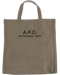 A.P.C. Recovery Shopping Tote Bag - Natural