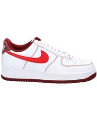 Nike Air Force 1 07 Lace-up Sneakers - White
