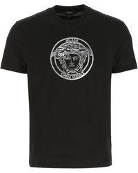 Versace Medusa Printed T-shirt - Black