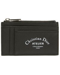 Dior Homme - Logo Printed Zipped Cardholder - Lyst