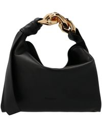 JW Anderson Small Chain Hobo Bag Unica - Black