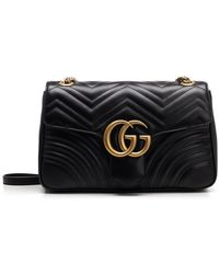 2613b3c78 Gucci Insect Marmont Bag In Black in Black - Lyst