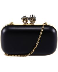 Alexander McQueen Skull Ring Clutch Bag - Black