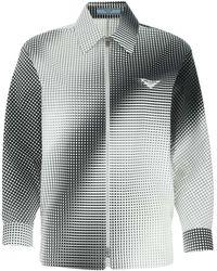 Prada Square Print Poplin Shirt 40 Cotton - Multicolor