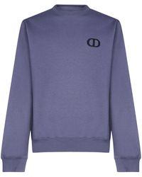 Dior Cd Icon Embroidery Sweatshirt - Purple