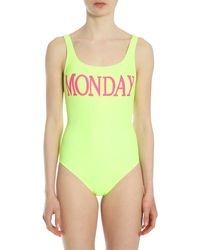 Alberta Ferretti Rainbow Week Monday Swimsuit - Yellow
