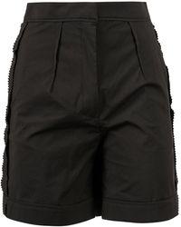 Moschino Pleated Bermuda Shorts - Black