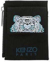 KENZO Kampus Tiger Strapped Cardholder - Black